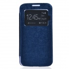 TEMEI PU Leather + Plastic Case w/ Visual Window for Samsung Galaxy Grand 2 G7106 - Deep Blue