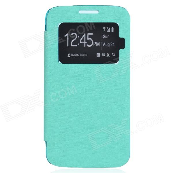 TEMEI PU Leather + Plastic Case w/ Visual Window for Samsung Galaxy Grand 2 G7106 - Green quality systems and controls for pharmaceuticals