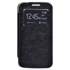 TEMEI PU Leather + Plastic Case w/ Visual Window for Samsung Galaxy Grand 2 G7106 - Black