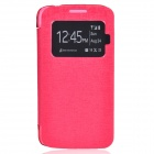 TEMEI PU Leather + Plastic Case w/ Visual Window for Samsung Galaxy Grand 2 G7106 - Deep Pink