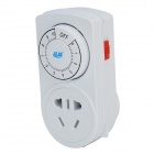 PINYI PY-16 Multi-Function Energy Saving Safety Timer Socket - White + Blue (3-Flat-Pin Plug)