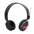 MH-R15 Bluetooth V3.0 Stereo Headband Headphone w/ Microphone - Black + Red