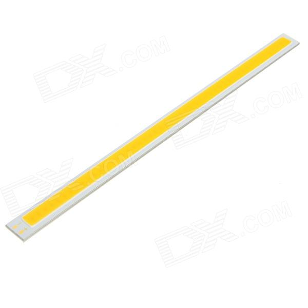 10W 600lm 3000K 50-COB LED Warm White Light Source Module Strip - Silver + Yellow (DC 30~36V)