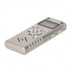 "VM109 1.0"" LCD Rechargeable Digital Voice Recorder with MP3 Player - Silver (4GB)"