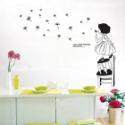 Fluttering Dandelion's Dream of Children's Room Background Wall Sticker - Multicolored
