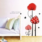 Tomato Tree of Bedroom / Living Room Background Wall Sticker - Multicolored