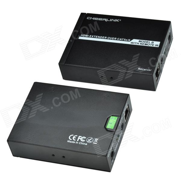 CHEERLINK HDMI USB KVM Extender / Transmitter & Receiver Set - Black бахрома световая 3x0 5 м richled rl i3 0 5f cw b