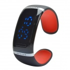 Smart Bluetooth V3.0 Bracelet Watch w/ Music Player / Answer Call - Black + Red