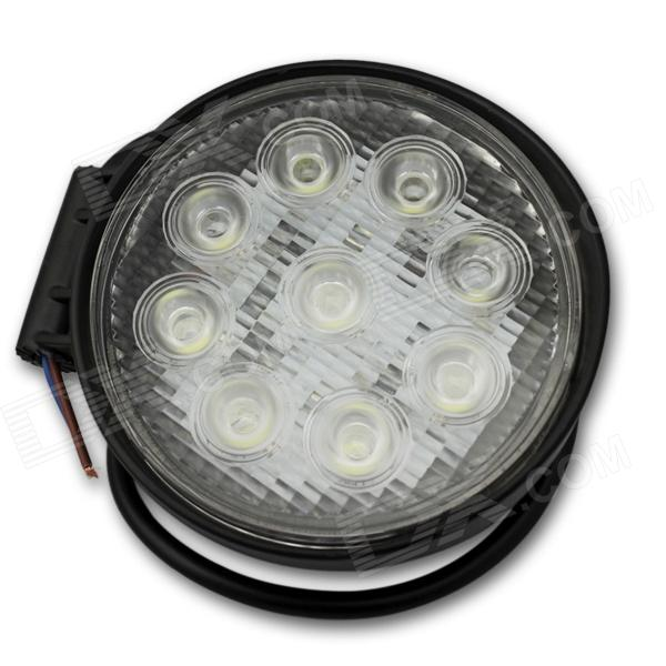 Flood 27W 1900lm 6000K 9-LED White Light Offroad Car Light / Circular Working Lamp - (DC 12~24V) the universal energy one kind different degrees