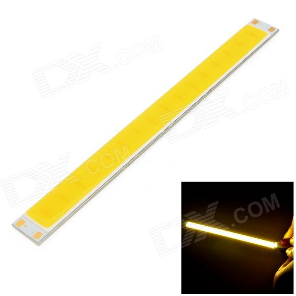 4W 300lm 3000K 16 x COB LED Warm White Light Source Module Strip - Silver + Yellow (DC 12~14V)