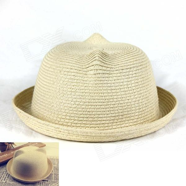 Casual Style Straw Hat - Khaki stetson men s breakers premium shantung straw hat