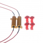 50W 6RJ Car LED Resistor Decoder - Golden + Red  (2 PCS)
