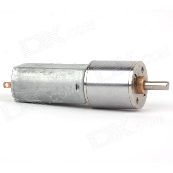 ZnDiy -BRY DC 12V 60RPM Geared Motor - Silver dc 12v 60rpm 2 terminals connectortorque speed control geared motor