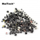 MaiTech A180 Monitor Key Notebook Switch / SMD nycklar 18 sorter - Svart + Silver (180 St)