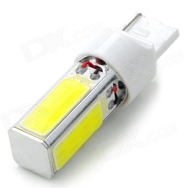 T20 20W 500lm 6500K 48 x COB LED White Car Brake Light / Steering / Backup Lamp - (2 PCS / 12~24V) 20w high power led ultra violet uv light chip 365nm 370nm 380nm 385nm 395 405nm 420nm 425nm diy cob light source epileds 42mil