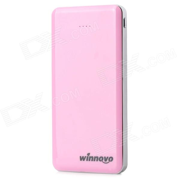 Winnovo WMP - 26K Universal Dual USB 5V 11600mAh Li - ion Polymer batteri Power Bank - Rosa