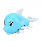 Lovely Dolphin Style Clockwork Toy - Blue + White