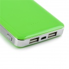 Winnovo WMP-26K Universal Dual USB 5V 11600mAh Li-ion Polymer Battery Power Bank - Green