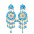 ER-3789 Stylish Retro Jewelled Pendant Earring - Navy Blue (2 PCS)