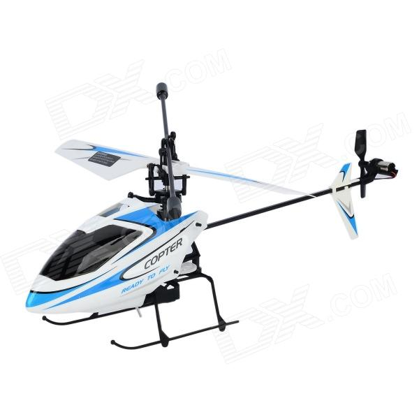 V911 Rechargeable 2.4GHz 4-Channel R/C Helicopter - Blue + White