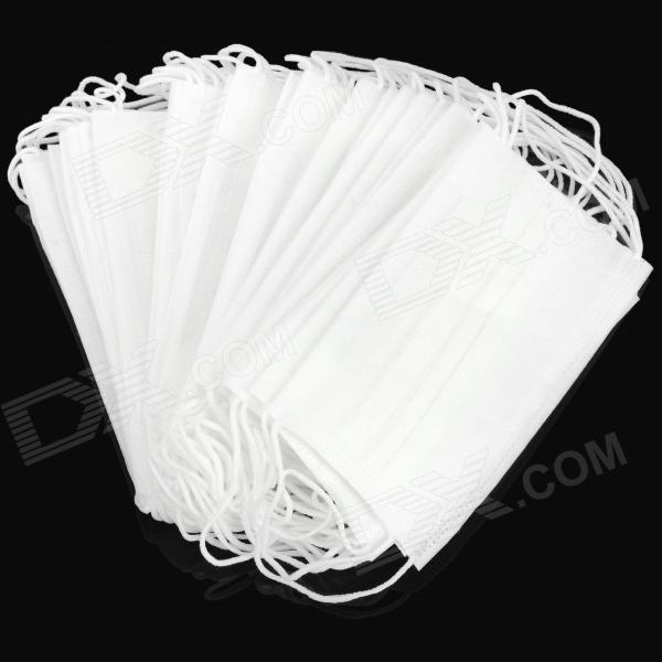 Disposable Non-woven Fabric Respirator Mask - White (50 PCS)