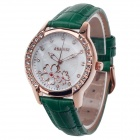 AODASI 4299L Fashionable Women's Quartz Wrist Watch w/ Rhinestone Decoration - Green + Rose Gold