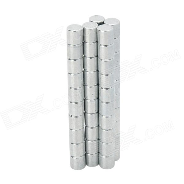 XL-63 Cylindrical NdFeB Magnets - Silver (50 PCS)