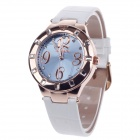 AODASI 4279L Stylish Women's Quartz Wrist Watch w/ Rhinestone Decoration - White + Rose Gold