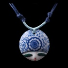 G.ERIMON TCXL0021 Chic Elf Pendant! Necklace - White + Blue