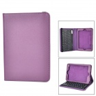 Bluetooth V3.0 59-Key Keyboard Case w/ Stand for RETINA IPAD MINI - Black + Purple