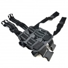 Nylon + Plastic Legging Holster for P226 Gun - Black