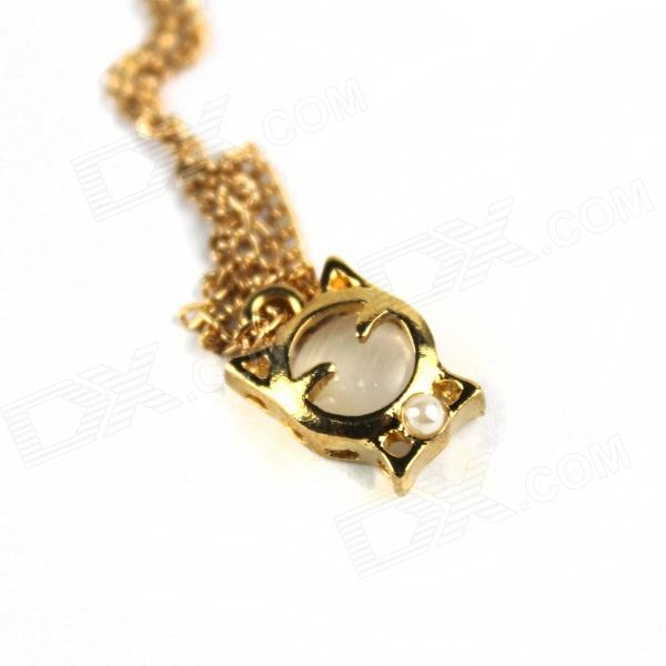 Cute Kitten Style Zinc Alloy Women's Necklace - Golden