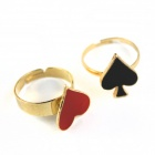 Spades Peach Blossom Rings - Golden + Red + Black (2 PCS)