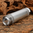3000mAh Rechargeable Power Bank w/ 1.5W 78LM 7000K 3-mode White Light LED Flashlight - Silver