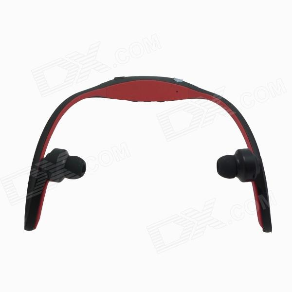 Rechargeable Sports Music Bluetooth V3.0 Headset w/ Microphone - Black + Red