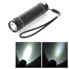 3000mAh Rechargeable Power Bank w/ 1.5W 78LM 7000K 3-mode White Light LED Flashlight - Black