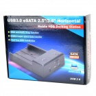 HD USB 3.0 e-SATA HDD Docking w/ AC Power Cable - Black
