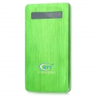 "BTY NST-0023 ""6500mAh"" Power Bank External Battery Charger w/ Touch Switch - Green"