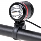 NEW-H1 Cree XP-E R2 300lm 6-Mode White Bicycle Light w/ 6000mAh Power Bank - Black + Red