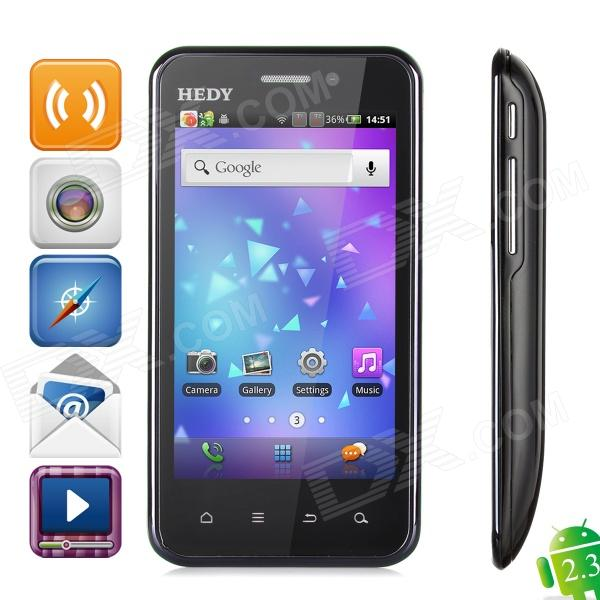 "HEDY S803 HD Android 2.3 WCDMA 3G Bar Phone w/ 4.0"", Wi-Fi,  5.0MP, Dual-Camera - Black"