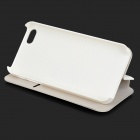 Flip-Open Crystal LOVE Lettering  PU Leather + Plastic Case w/ Stand for IPHONE 5 / 5S - White