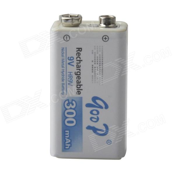 Фото GOOD 9V 200mAh Rechargeable Ni-MH Nickel Metal Hydride Battery - White + Blue original xiaomi zi5 bidirectional nickel metal hydride rechargeable battery charger with usb port