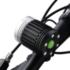 Marsing 4-Mode 3-LED Cold Hvit Bike Light / hodelykt - svart (4 * 18 650)