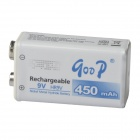 GOOD 9V 350mAh Rechargeable Ni-MH Battery - White + Blue