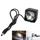 Marsing Cree XM-L U2 1000lm 3-Mode White Bike Light / Headlamp - Black (4 x 18650)