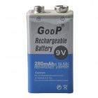 GOOP 9V 180mAh Rechargeable Ni-MH Battery - Sliver + Blue