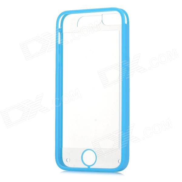 V11 Protective Plastic Case for IPHONE 5 / 5S - Blue + Transparent water drops style protective plastic back case for iphone 4 blue
