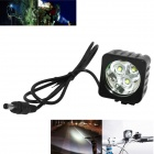 Marsing LED 2600lm 3-Mode White Bike Light / Headlamp - Black (4 x 18650)