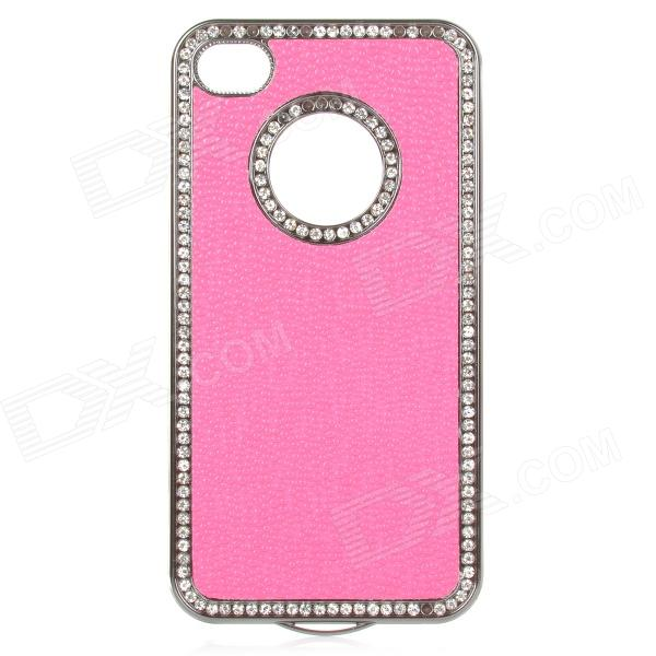 Bugu S4 Protective PC Back Rhinestone Case for IPHONE 4 / 4S - Deep Pink