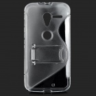 MOTO X ''S'' Shaped Protective TPU Back Case w/ Stand for MOTO X - Transparent